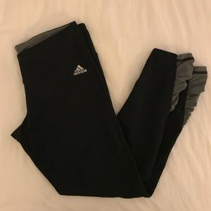 Adidas Black Leggings with Ruched Ankle Athleisure